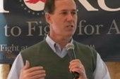 Christian conservatives pick Rick Santorum