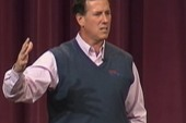 Santorum denies making Obama/Hitler...