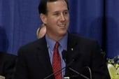 Dog pee can't stop Santorum