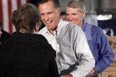 Romney, oblivious, bashes his own endorser