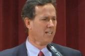 Rick Santorum preaches to the GOP choir
