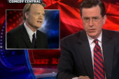 Colbert rewrites Mormon proxy baptisms