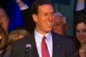 Santorum competitive, despite being...
