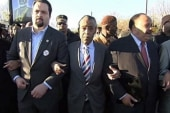 Sharpton: 'We're here because there's a...