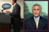 President slams Republican rush to war...