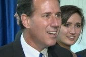 Rick Santorum losing his composure?