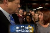 Ed meets the crowd in Madison