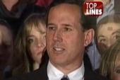 Top Lines: Santorum's 'halftime' speech on...