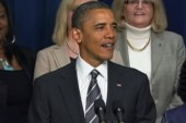 Obama makes strong push on women's issues