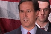 What caused Santorum to suspend his campaign?