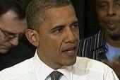 Obama talks jobs, Romney walks back from...