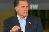 Romney speaks at factory shut down under Bush