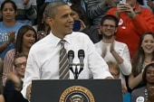 Obama plays offense against GOP on college