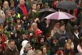 Norwegians rally against hate with song