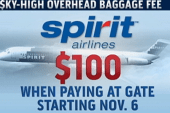 Spirit airlines to charge $100 for...