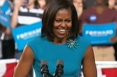 Michelle Obama finds her voice on campaign...