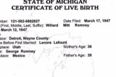 Romney releases birth certificate