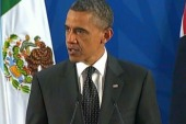 President Obama addresses reporters in Mexico