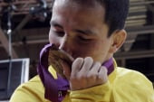 Ooops! Brazilian breaks Olympic medal in...