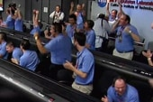 NASA celebrates successful Mars landing