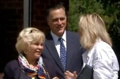 Cameras view Romney family attending church