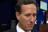 Mitchell questions Santorum on his welfare...