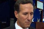 Mitchell questions Santorum on his welfare...