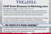 Republicans begin to turn on Romney