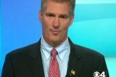 Brown dances away from R-word in debate