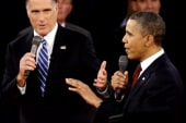 Obama stands up to Romney during debate
