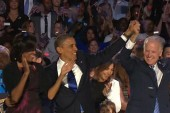 Obama emphasizes American unity in victory...