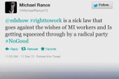 Reaction to Gov. Snyder's 'right-to-work'...