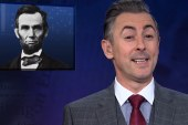 Alan Cumming plays anchor on MSNBC