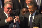 Obama speaks on dangers of football