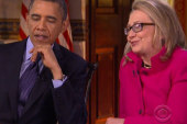 The dynamic duo: Obama and Clinton's first...