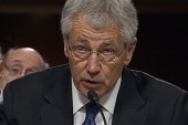 Hagel faces questions on military sexual...