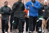 Running club for homeless providing steps...