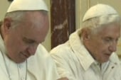 Historic meeting of two popes
