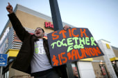 Fast-food workers set out on massive strike