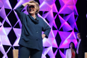 Hillary Clinton takes shoe throwing in stride