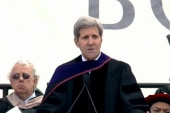 Kerry discusses climate change at graduation
