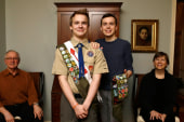 First gay Eagle Scout to test Boy Scout ban
