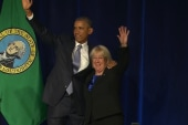 Obama Stumps for Sen. Patty Murray