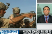 Medical schools pledge to help study PTSD...