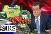 Colbert mocks GOP's many suspicions