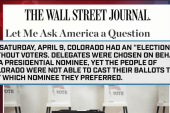 Trump rips delegate process in WSJ