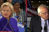 Clinton aims to defeat Sanders in adopted...