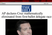 Cruz eliminated from first-ballot race,...