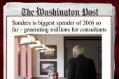 Bernie Sanders biggest 2016 spender so far