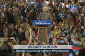 Clinton celebrates 'significant' PA win